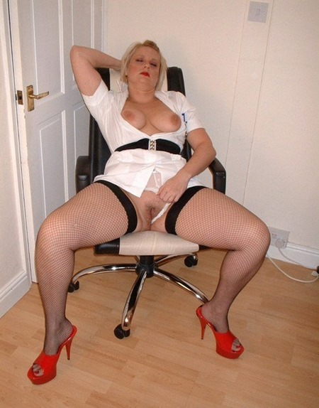 Milf nurse stocking